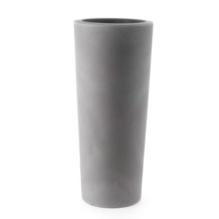cvetlični lonec slim 70 cm peščena siva barva