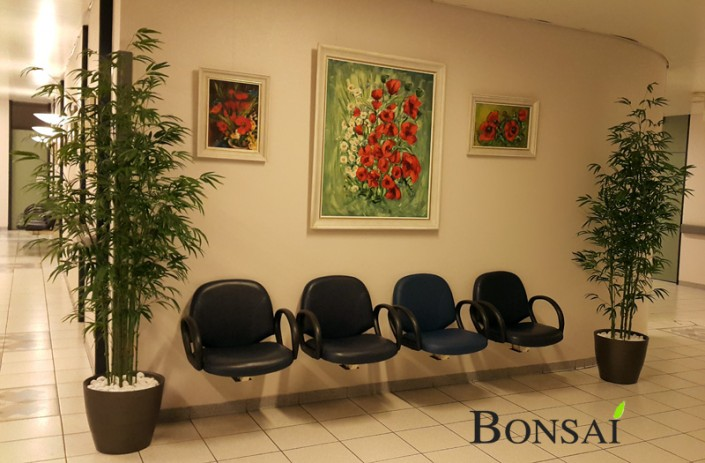 notranja oprema prostora umetne rože umetna drevesa bambus