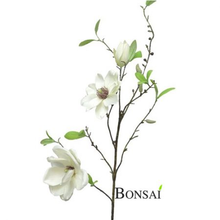 Magnolija veja bela 90 cm bela - umetne magnolije - okrasne magnolije - bele magnolije - umetne magnolije