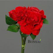 Rdeča vrtnica šop umetne vrtnice rdeče 56 cm - umetno cvetje svileno cvetje - okrasno cvetje - rdeče vrtnice - umetne vrtnice
