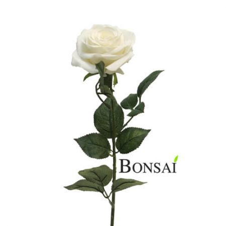 Umetna vrtnica krem 65 cm - umetno cvetje - umetna vrtnica - bela vrtnica - okrasna vrtnica