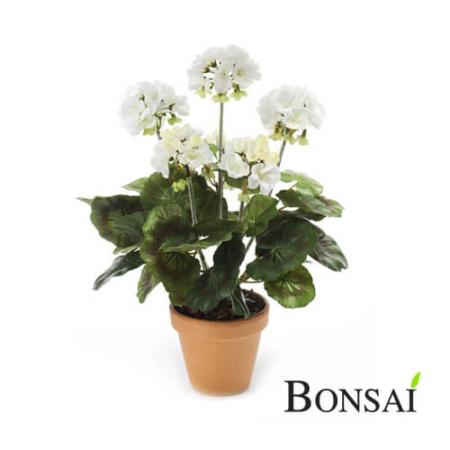 Umetna Geranija bela 35cm - umetna geranija - okrasna geranija - geranija bela