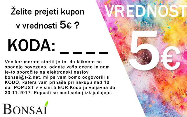 novoletne jelke - 5 EUR KUPON