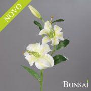 Lilija 2 cvetova in popek krem zelene barve 55cm - umetne lilije - okrasne lilije - lilije