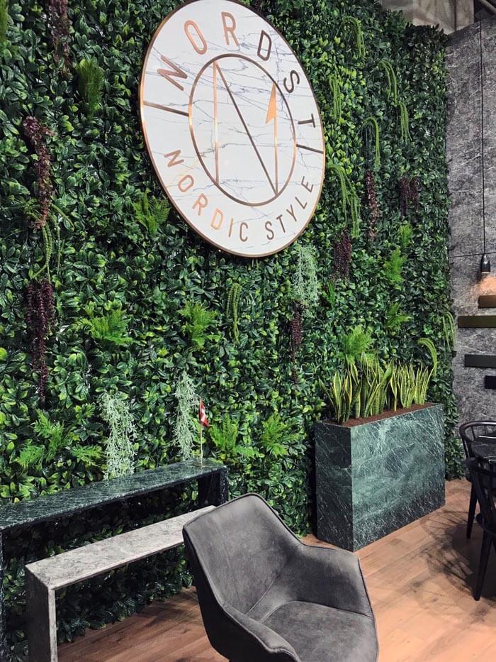 zelena stena - Green wall Lovorikovec + rastline