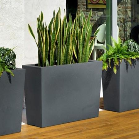 Cvetlično korito Big 100 antracit - okrasno korito - zunanje korito - antracit korito