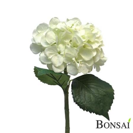 Umetna bela hortenzija 48 cm