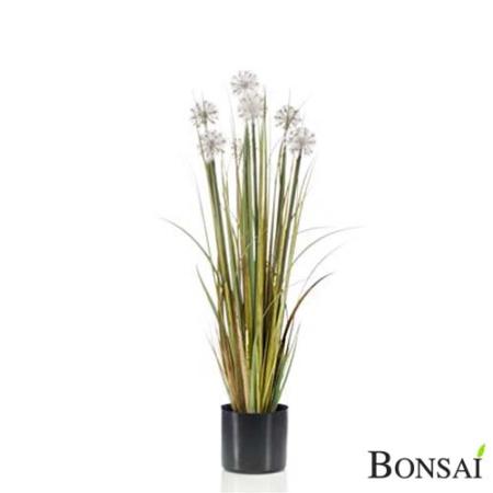 Umetna trava s cvetovi 84 cm v lončku