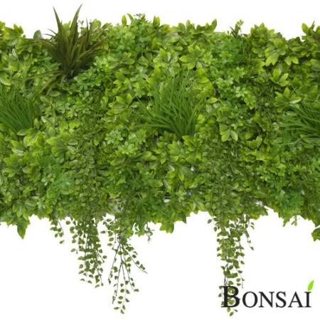 Mešani zeleni panel Šeflera 50 x 50 cm