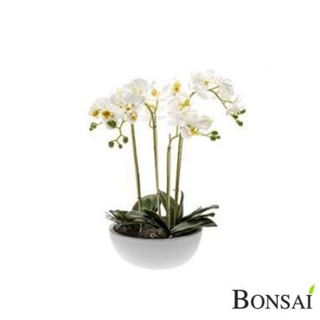 Orhideja bela aranžma v vazi 60 cm - umetno cvetje - umjetno cvijeće