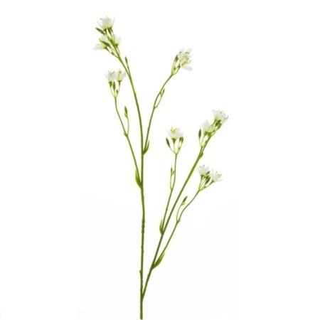 Cvetna umetna veja beli popki 96
