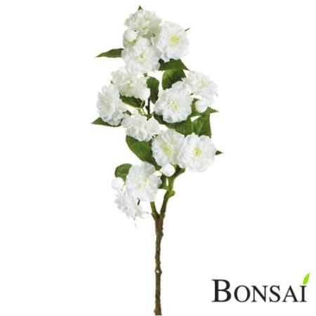 Umetna veja češnja 53 cm beli cvetovi