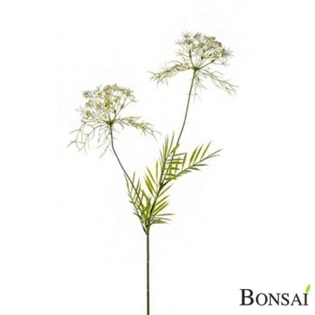 Koper bela cvetna veja 74 cm