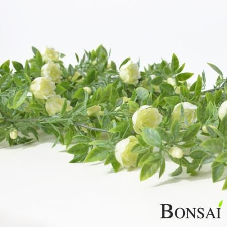Plezalka z vrtnicami 75 cm krem barva