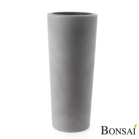 Cvetlični lonec slim 70 beton siva barva