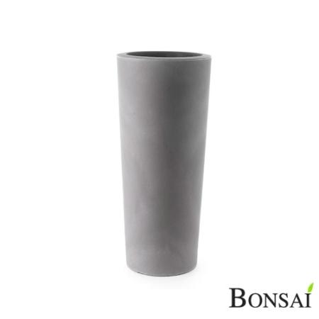 Cvetlični lonec slim 90 beton siva barva