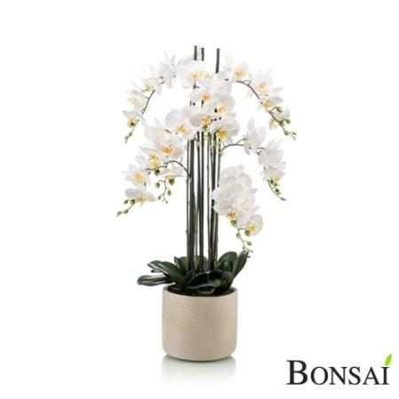 Umetna orhideja 100cm bela v lončku Yasmin