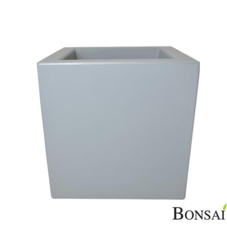 Cvetlični lonec Kocka 40 cm beton siva barva