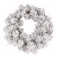 Božično novoletni venček zasnežen 60cm