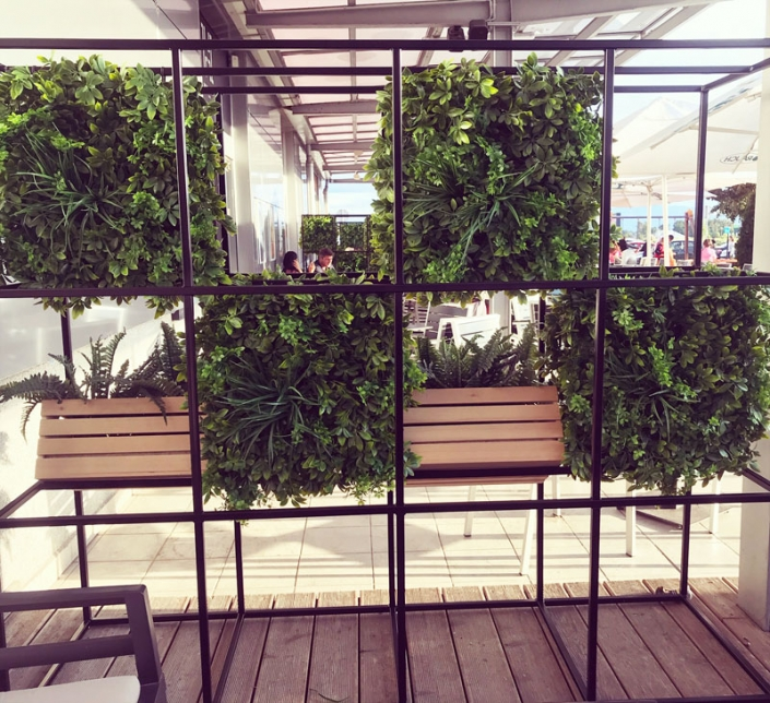 zelene stene Bonsai Trzin - terasa Kranj