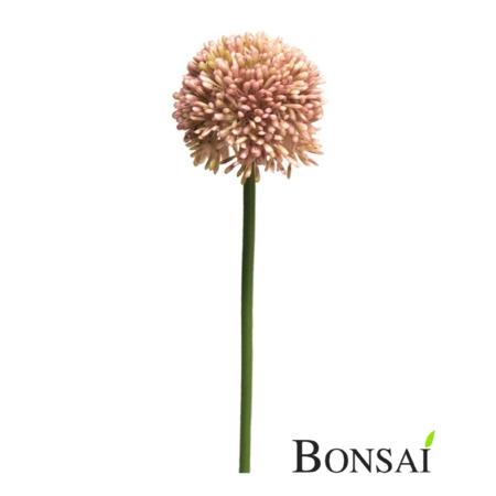 Umetni Allium nežno roza 44cm