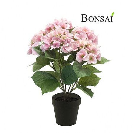 Umetna Hortenzija roza 40cm v lončku