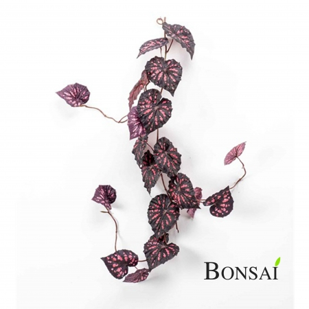 Umetna plezalka Begonija 115cm vinsko rdeča