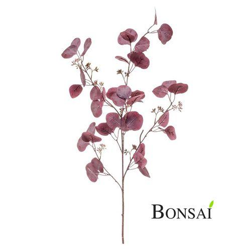 Umetna veja Evkalipt 110cm vinsko rdeča