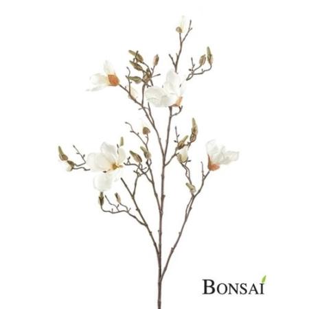 Umetna veja Magnolija 105cm krem barva cvet