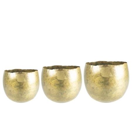 Cvetlični lonec Elena metalik zlata š25v19