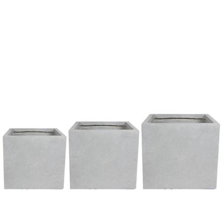 Okrasni lonec Amalfi v20 x š22 cm siva barva