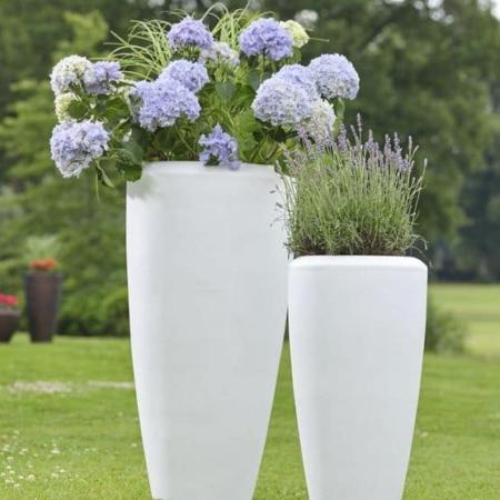 Cvetlična vaza Florence Fiberglass bela barva 80cm