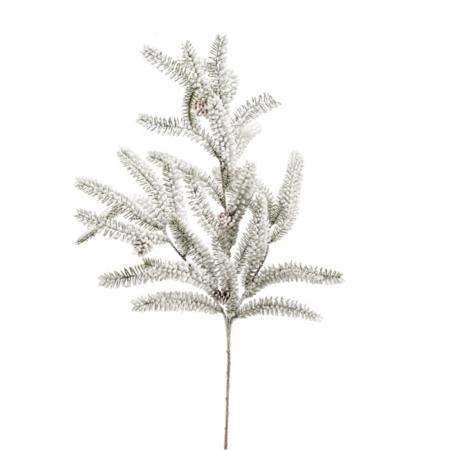 Smrekova veja zasnežena bela 78cm