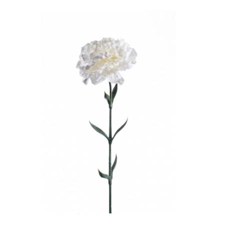 Umetni nagelj bele barve 65cm