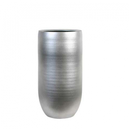 Vaza za rože Mios srebrna š19 x v36cm