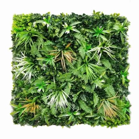 Zelena stena 100x100 mešana white grass