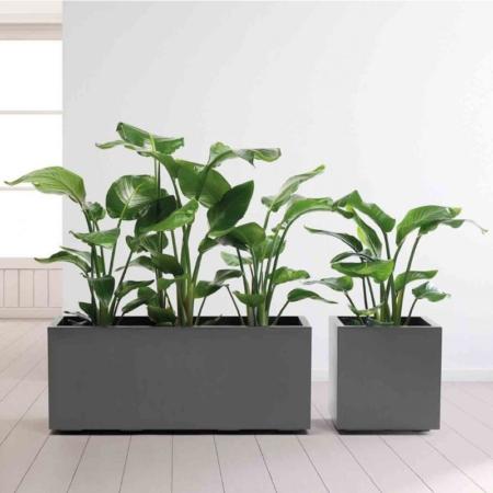 Cvetlično korito Nature antracit 100x40x40