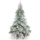 Zasnežene umetne jelke - bela božična drevesa Finland